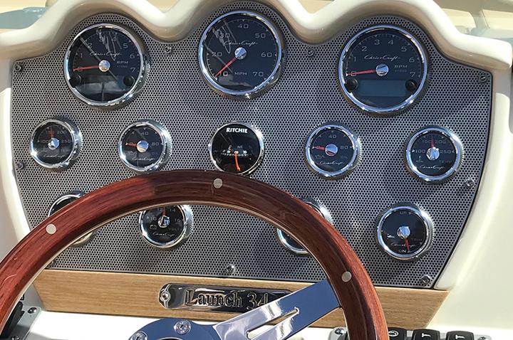Chris-craft-aluminum-dash-panel