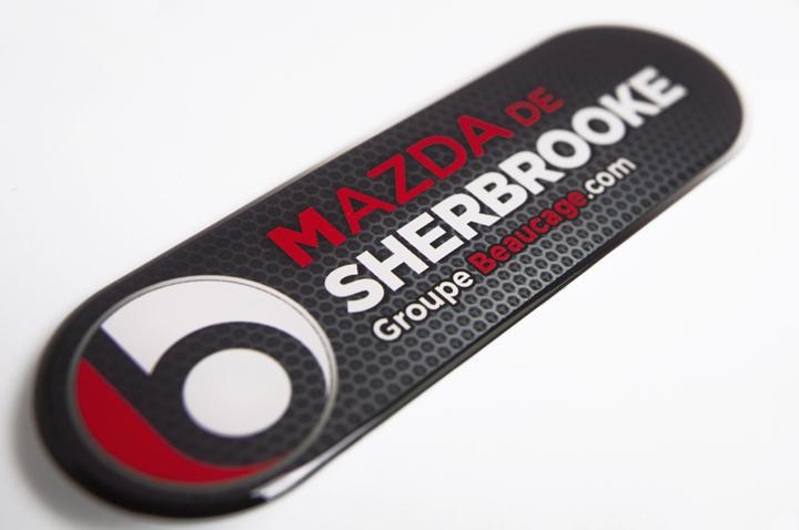 Logo digital dômé pour Groupe Beaucage - Mazda Sherbrooke